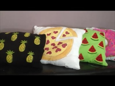 ARTESANATO Faça Você Mesma Almofadas Decorativas de Abacaxi e Melancia