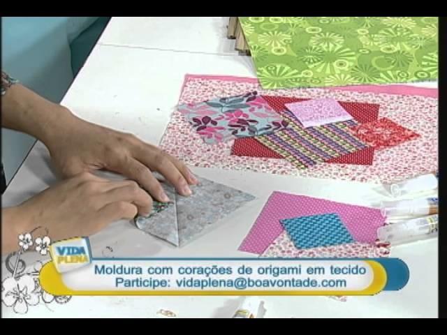 Artesanato - Moldura com corações de origami