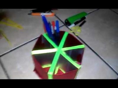 Artesanato- Porta treco feito com caixa de leite