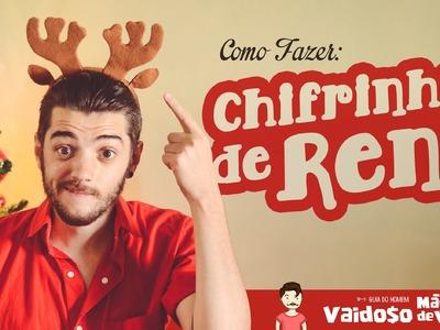 CHIFRINHOS DE RENA | COMO FAZER | DIY