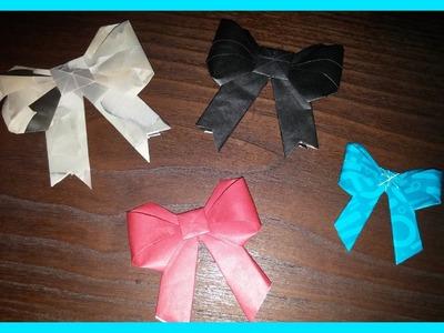 Como fazer laço origami perfeito - How to make origami bow