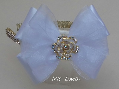 Como fazer laço tradicional . D.I.Y. ,Tutorial , Pap By Iris Lima How To Make a Hair Bow