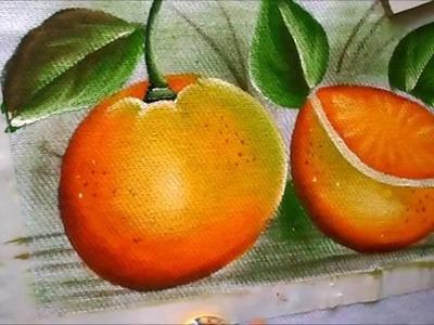 Como pintar laranja aberta  e fechada em tecido