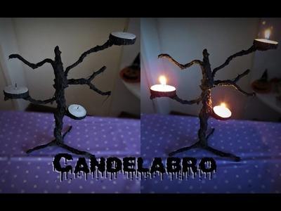 D.I.Y. Candelabro - Árvore Seca   Halloween 2015
