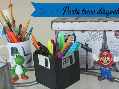 D.I.Y Geek - Porta treco de disquetes | Lorena Laurindo