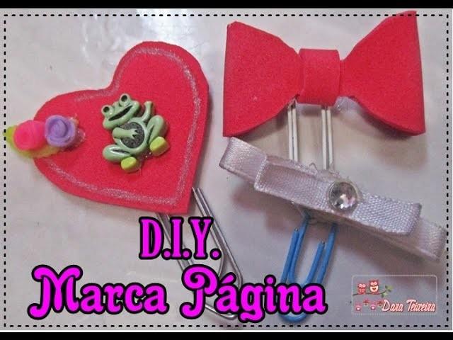 D.I.Y. Marca Página com clips! (Faça você mesma!)♥