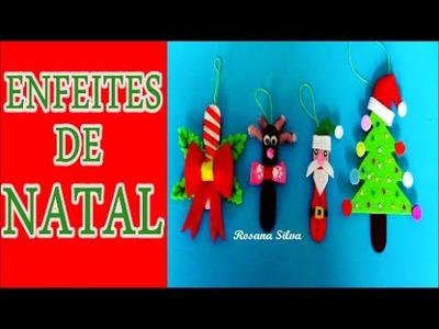 DIY 4 ENFEITES DE NATAL RECICLÁVEIS COM PALITOS DE PICOLÉ - VÍDEO 1