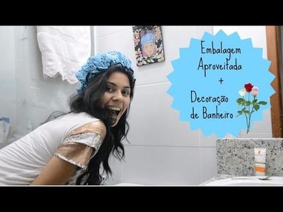 DIY: Aproveitamento de Embalagens fofas + Decoração de banheiro♡