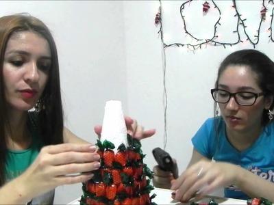 DIY-ÁRVORE DE  NATAL FEITA COM BALAS