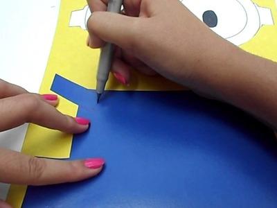 DIY: Caderno dos Minions