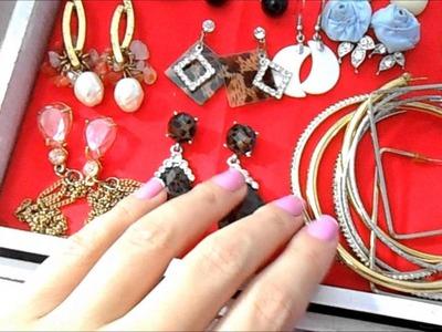 Diy: Caixa para bijus. Como eu organizo minhas bijus ( Faça você mesma )