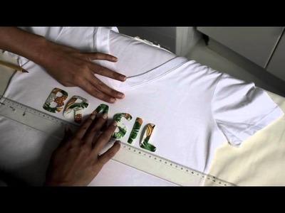 DIY   Camisa do Brasil Personalizada