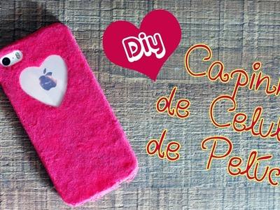 DIY | Capinha de Celular de Pelúcia