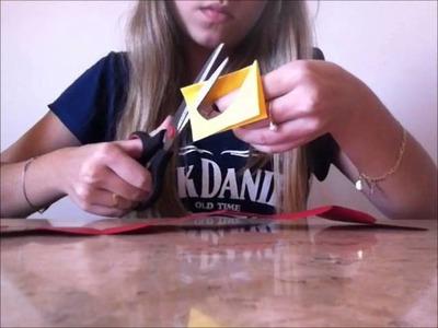 DIY: Cartão sanfonado de coração  Dia dos namorados