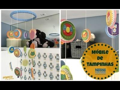 DIY com Nestlé: Móbile Criativo e Fofo de Tampinhas | Organize sem Frescuras!