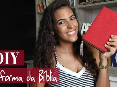DIY | Como encapar e reformar a Bíblia com tecido =)