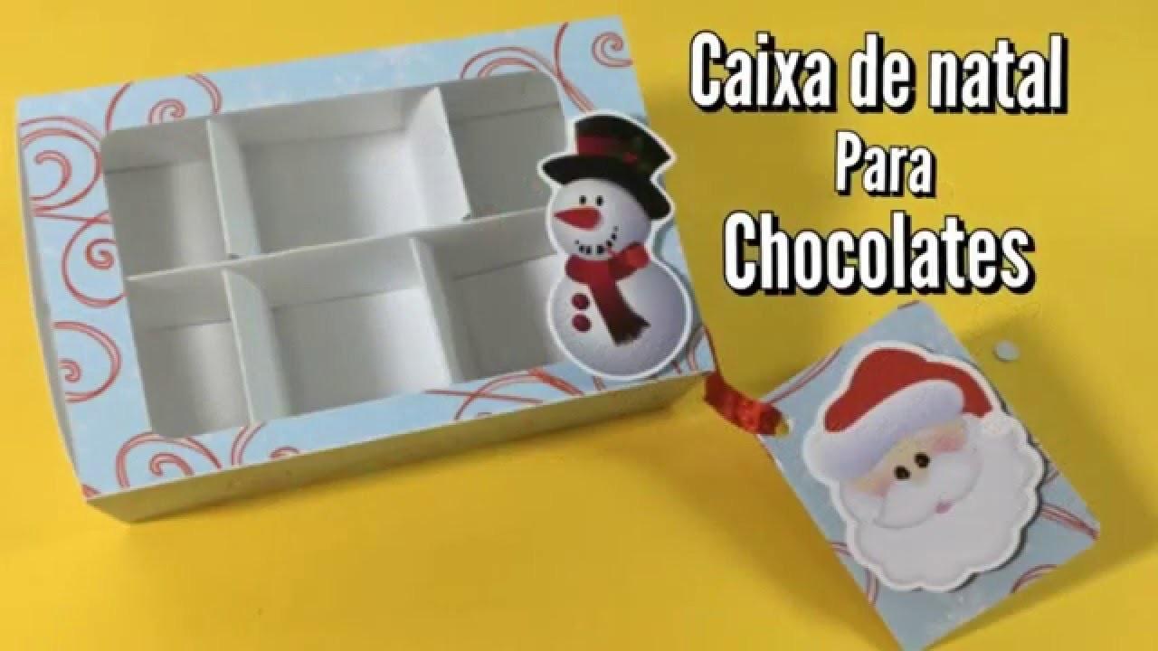 DIY | Como fazer Caixa de natal para chocolate