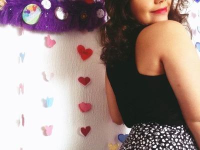 DIY  Como fazer cortina de coração