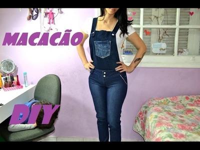 DIY Como fazer macacão com calça jeans