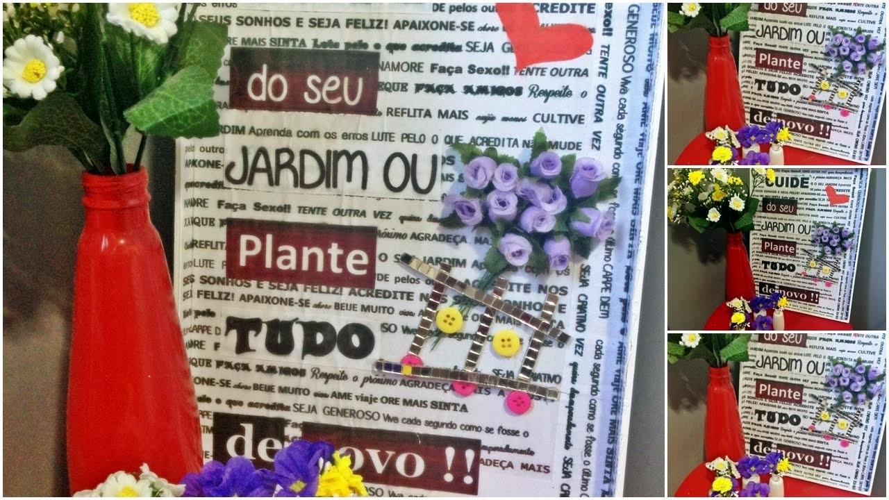Diy Como fazer quadro de flores 3d para decoração| Faça você mesma| Tatiane Xavier