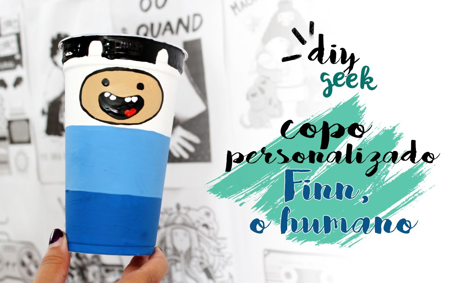 DIY COPO DO FINN ❤ DIY HORA DE AVENTURA - GEEK TUTORIAIS