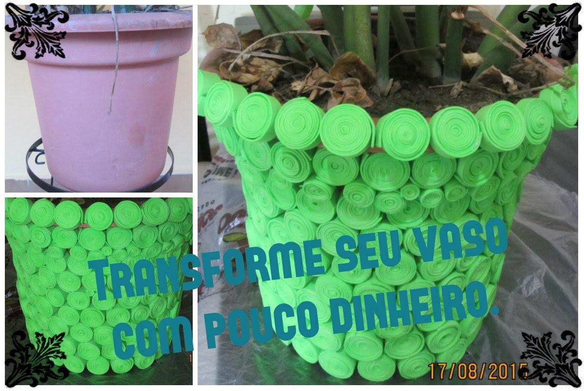 DIY - customização de vasos