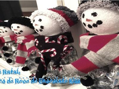 DIY de Natal: Boneco de Neve de Chocolate Kiss