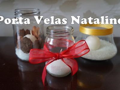 ✄ Diy de Natal ll: Porta vela baratinho para decoração