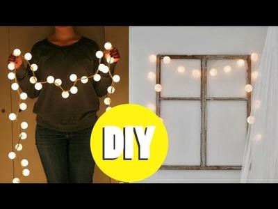 DIY Decor: Luzinhas de Pinterest - Com bolinhas de ping-pong!