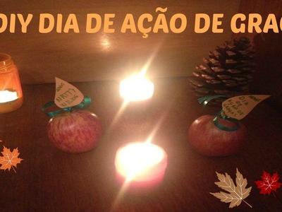 ✂ DIY DIA DE AÇÃO DE GRAÇAS - THANKSGIVING