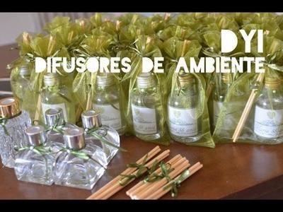 DIY - Difusores de Ambiente - Lembrancinha 55 anos da Mamis