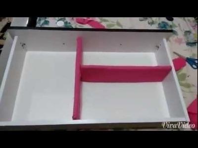 DIY.Faça você mesma: Divisórias para gavetas