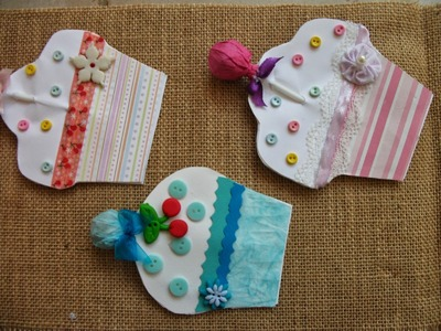 DIY: Faça voce mesma lindos postais em forma de Cupcakes