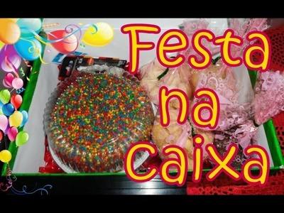 DIY: Festa na Caixa - Surpresa de Aniversário !! Presente Criativo