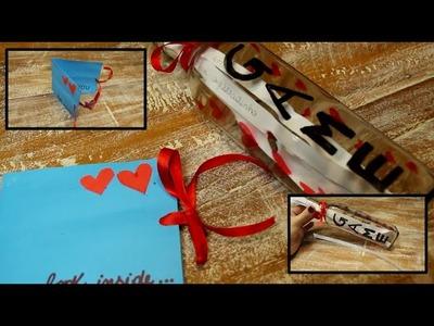 DIY: Garrafa com Mensagens & Cartão #DiaDosNamorados ♡Laura Gromann