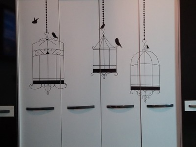 DIY: Ideia para decoração de guarda-roupas - Como decorar seu guarda-roupas sem gastar!
