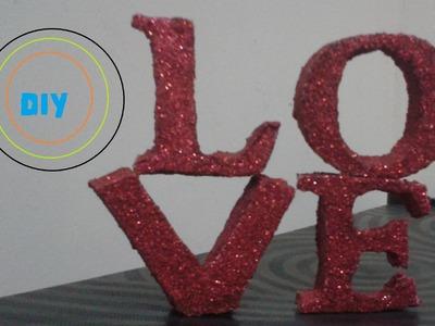 DIY: Letras decorativas com isopor