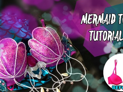 DIY: MERMAID BRA TUTORIAL - Como fazer Top de Sereia ✧ H-Sama