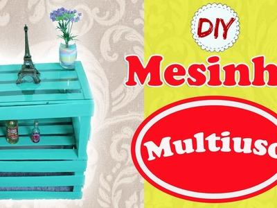 DIY: Mesinha Multiuso - Decorando com CAIXOTES DE FEIRA por Coisas de Jessika