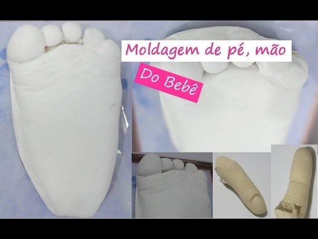 DIY: Moldagem do pé do bebê com gesso