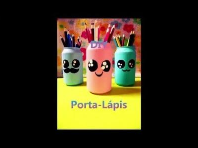 DIY- Porta-lápis de latinha