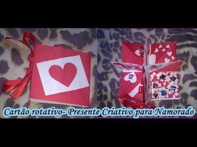 DIY Presente Criativo para Namorado - Cartão rotativo