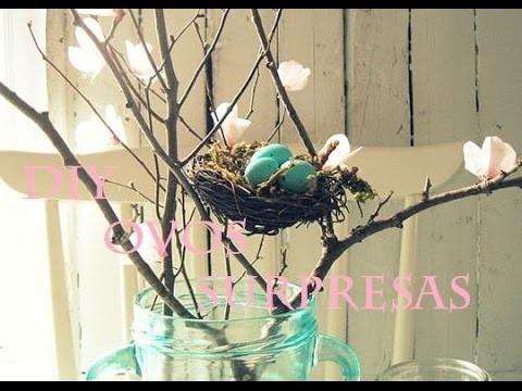 DIY ♡ Presente. Decoração de Páscoa (ovinhos surpresas)