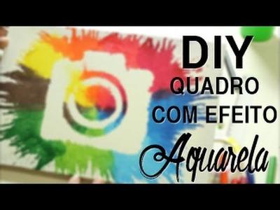 DIY: QUADRO EFEITO AQUARELA (Com Giz)