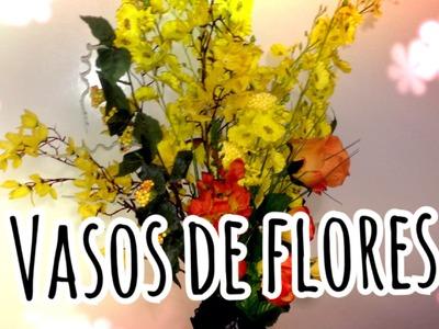 DIY - Vasos de flores falsas em Casa !