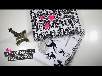 DIY VOLTA ÀS AULAS: RECICLANDO E PERSONALIZANDO CADERNOS | T de Tagarela - Tainá Santos