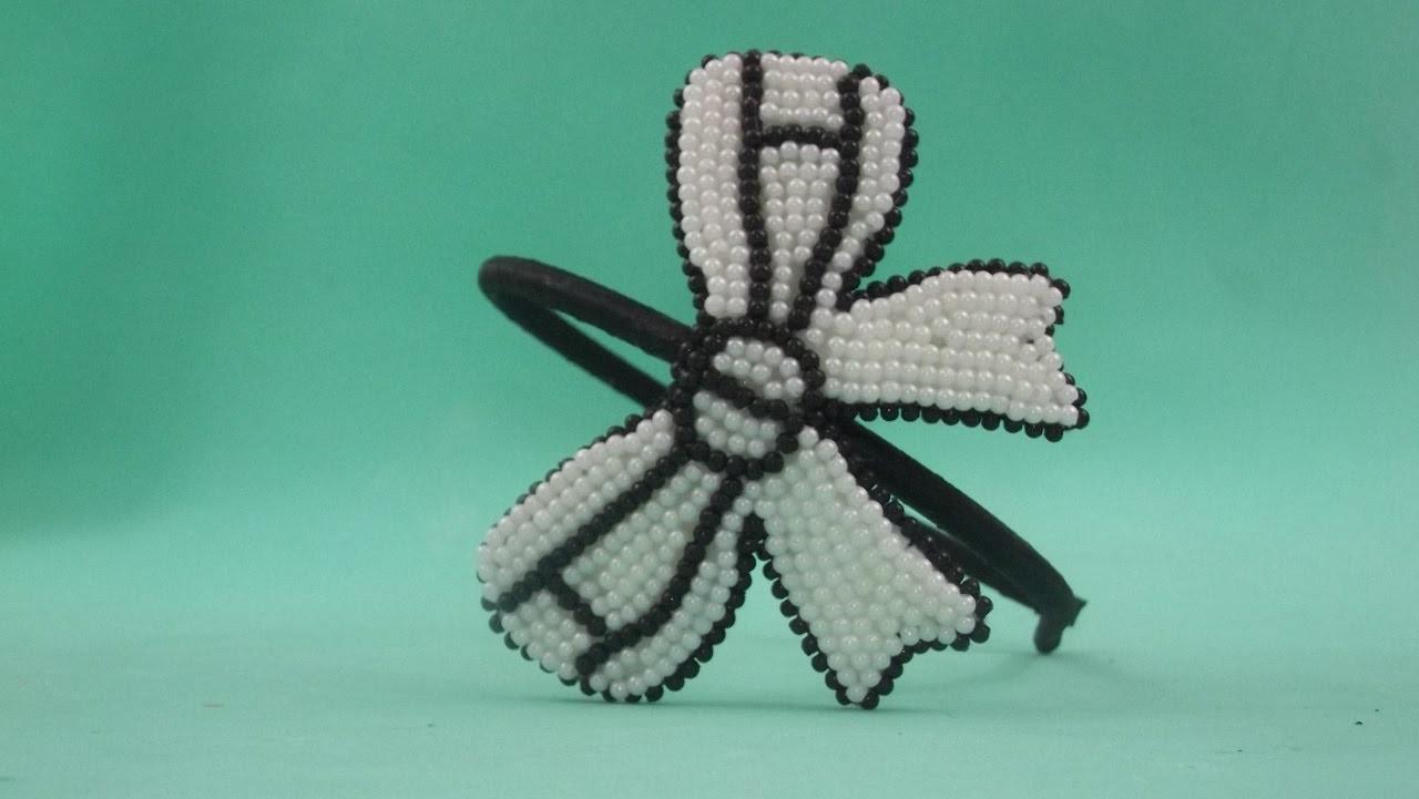 Faça você mesma: tiara com laço preto e branco