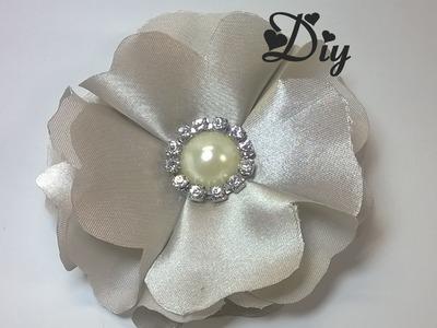 Flor de cetim \ Satin flower diy