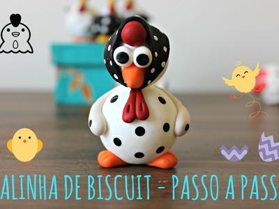 Galinha de biscuit -  passo a passo   #PARAINICIANTES