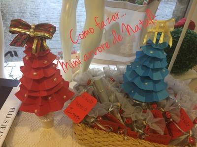 Mini Árvore de Natal! COMO FAZER! (DIY)
